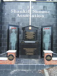 1st Shankill Somme Association Monument located in Shankill Cemetery