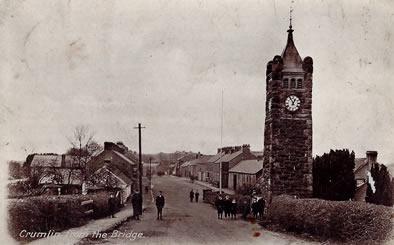 Postcard - view of Crumlin Village