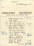 Ferguson receipt dated 1973