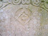 Masonic or Black Institution on Abernethy headstone