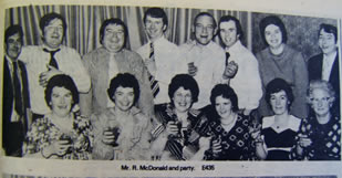 Mr R McDonald and party. E435