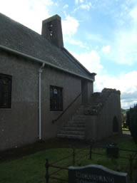 Outside Middle Church Ballinderry October 2012