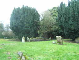 General view of graveyard at Laa Lau, Ballinderry, County Antrim