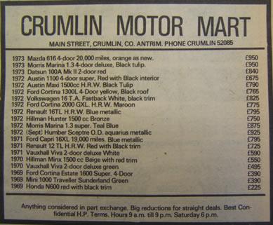 Crumlin Motor Mart