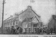 The New Orange Hall in Crumlin, 1928