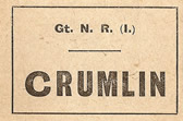 Crumlin luggage label