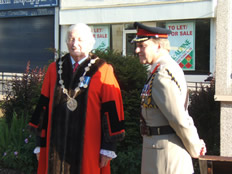 Lisburn Mayor, Ronnie Crawford and Colonel Philip Thorpe