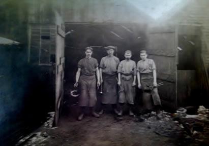 Blacksmith's shop, c1918