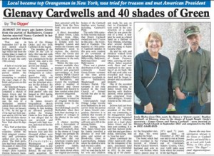 Glenavy Cardwell and 40 Shades of Green published in The Antrim Guardian, 27 November 2014