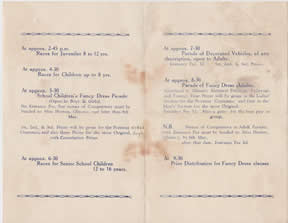 The Coronation Celebrations in Glenavy - Sports Programme  12th May 1937