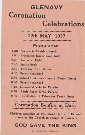 Glenavy Coronation Celebrations 12th May 1937.