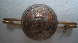 Military button from the early 1800s