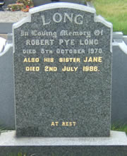 Headstone - Jane & Robert Long