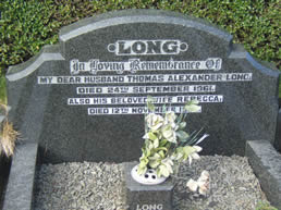 Headstone - Thomas and Rebecca Long