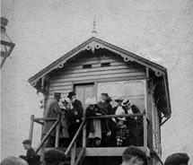 Glenavy signal box on the morning of 12th July, 1902