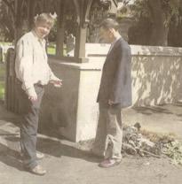 Basil McCrea MLA and Rev. John Rutter of St. Aidan's Church of Ireland