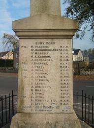 Glenavy War Memorial Panel 4