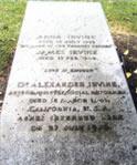 Grave of Dr Alexander Irvine