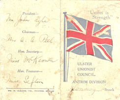 Old Unionist Membership Card