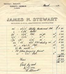 James N Stewart receipt dated 1972