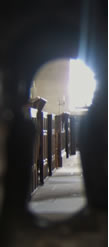 Through the keyholes of Middle Church, Ballinderry October 2012