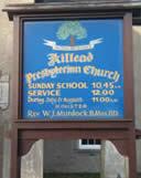 Notice board at Killead Presbyterian Church, November 2008