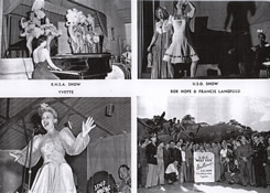 Taken from a souvenir book in the possession of the Neff family showing some of the scenes from those who entertained the American personnel at Langford Lodge.