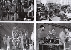 Taken from a souvenir book in the possession of the Neff family showing some of the work in progress inside the factory at Langford Lodge