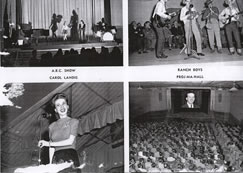 Taken from a souvenir book in the possession of the Neff family showing some of the entertainment artists at Langford Lodge including A.B.C. Show, Carol Landis and the Ranch Boys