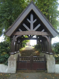 Lych Gate, Middle Church Ballinderry roadside view October 2012