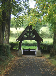 Lych Gate viewed from Middle Church Ballinderry October 2012