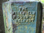 The Millfield Foundry, Belfast logo on the gate post