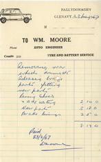 William Moore receipt dated 1967