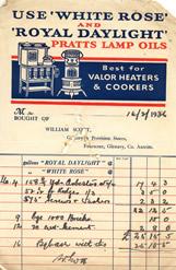 William Scott, receipt dated 1936