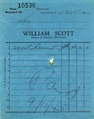 William Scott receipt dated 1945