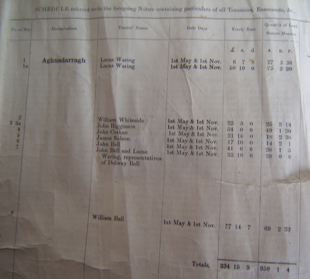 Landed Estates records 1877