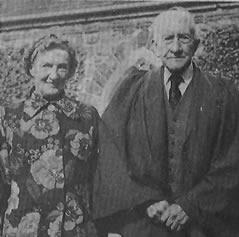 Mr and Mrs James Walker, Glenavy 1974