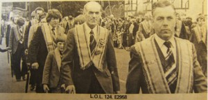 Photograph of LOL 124 from The Ulster Star 18th July 1980 – appears with permission of The Ulster Star