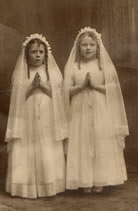 The 1st communion of Sheila and Mary Langan