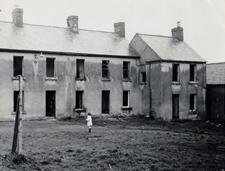 A photograph showing numbers 10, 11 & 12 Bullick's Court off Linenhall Street, Lisburn believed to have be taken in the 1960's