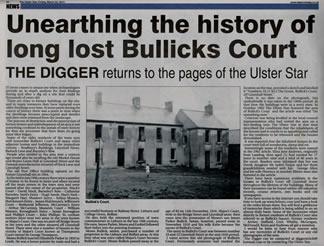 A Long Lost Court of Lisburn - Bullick's Court