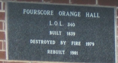 Fourscore Orange Memorial Stone