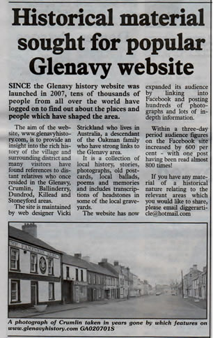 Antrim Guardian 10th January 2013.