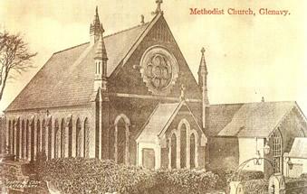 Glenavy Methodist Church, early 1900s postcard