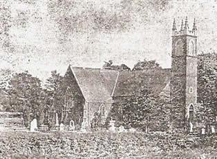An early 20th century photograph of Glenavy Parish Church