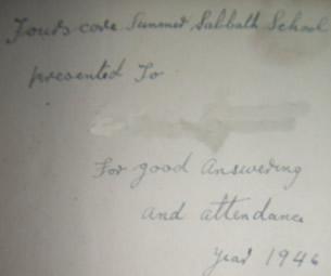 Sunday School Prize, 1946