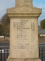 Glenavy War Memorial Panel 3