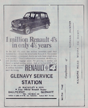 Advert from Glenavy Parish Magazine February 1968