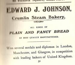 Advertisement - Crumlin Steam Bakery