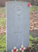 The war grave of Flight Sergeant T.A. Kemp